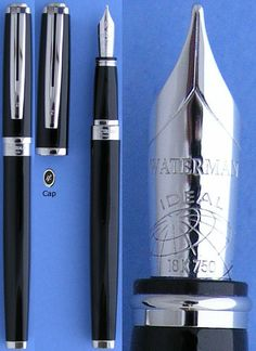 For the one that has everything: Waterman Ideal Exception Platinum fountain pen #giftguide #colorgiftguide #black #shopbycolor