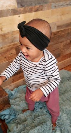 Slouchy pants and topknot. Slouchy Pants, Mixed Babies, Top Knot, Bamboo, Kids Fashion, Infant, Children, Clothes, Collection