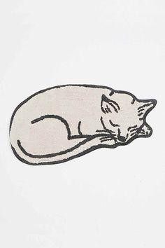 Tapis de bain chat endormi - Urban Outfitters