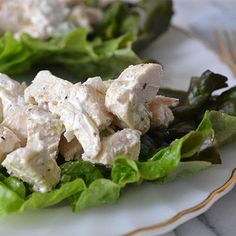 Lunch to go - healthy chicken salad Turkey Recipes, New Recipes, Chicken Recipes, Cooking Recipes, Favorite Recipes, Healthy Recipes, Chicken Ideas, Cooking 101, Healthy Chicken