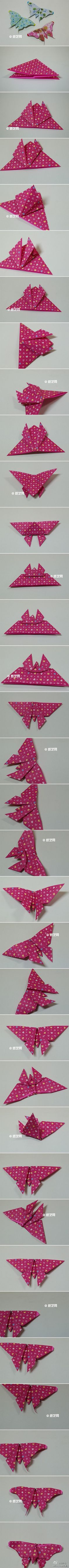Handmade DIY origami paper cutting handmade paper art origami butterfly