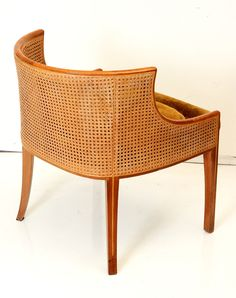 1stdibs | Paul Tuttle Pair of Double Cane Tub Chairs for Stanley Reifel