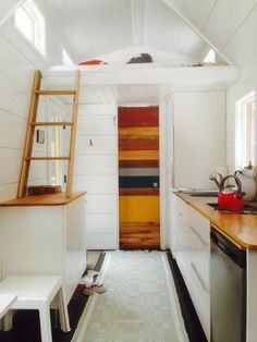 A 190 square feet tiny house on wheels in Norfolk, Connecticut.