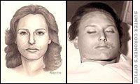 Jane Doe - Police Sketch and Coroner's Photo
