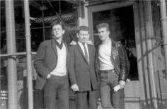 Paul McCartney & John Lennon with Bob Wooler. 1961.