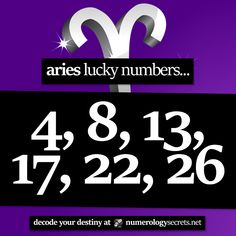 #Aries lucky numbers... ⭐