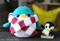 Snuggles the Penguin. Free Pattern.