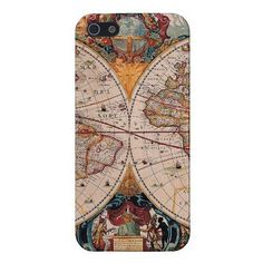 Take a trip to yesteryear thanks to this old world map iPhone 5 case ($40).  twelve travel iPhone cases! Love them all.