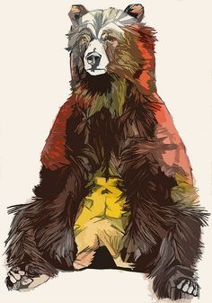 Bear - Photoshopped by luke-dixon-art, via Flickr