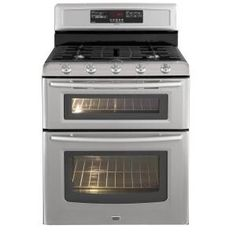 Maytag Gemini 6 cu. ft. Double Oven Gas Range with Self-Cleaning Convection Oven in Stainless Steel