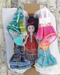 """12"""" rag doll with clothes Etsy.com/shop/funnybunnytoyshop #ragdoll #handmadedoll #dolldress #tilda #tildadoll #waldorfdolls #clothdoll #textiledoll"""