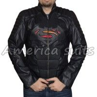 Superman Vs Batman Double Logo In One Leather Jacket  Inspired by the new classic movie Batman Vs Superman, we created this beautiful leather jacket