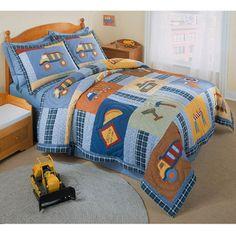 Construction Zone Applique Embellished 3-piece Quilt Set | Overstock.com Shopping - The Best Deals on Kids' Bedding