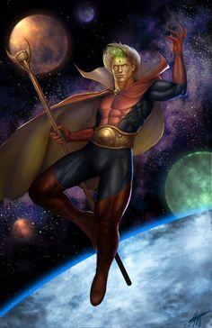 Adam Warlock Marvel, Marvel Rpg, Marvel Comics Art, Marvel Heroes, Superhero Characters, Comic Book Characters, Comic Books Art, Marvel Statues, Fan Art
