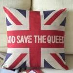 God Save the Queen British Style Pillow