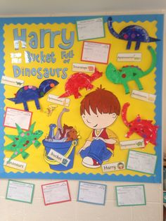 Harry & Bucketful of Dinosaurs display