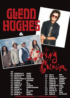 I'm super excited to be touring later this year in UK & EUROPE with my Band. Joining us will be my friends from the USA, LIVING COLOUR. An evening for all you SOULMOVERS ✌️ #GHLIVE