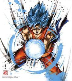 Dragon Ball Shikishi ART 3 Goku SSJ Blue