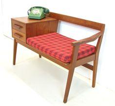 retro restored vintage mid century 1959 telephone table gossip ... - Meuble Telephone Design