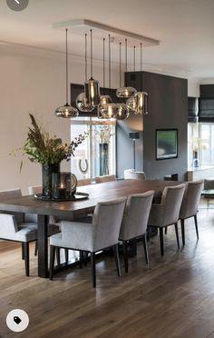 Home Room Design, Dining Room Design, Dining Room Table, Home Interior Design, Design Kitchen, Ikea Dinning Room, Luxury Dining Room, Modern Dining Rooms, Modern Room Decor