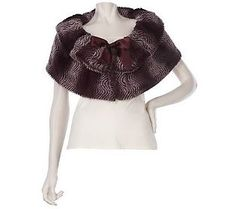 Sure Couture Convertible Faux Fur Stole with Tie~in the Berry color
