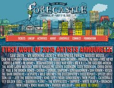 The lineup has been announced! Have you bought your tickets yet? http://forecastlefest.com/