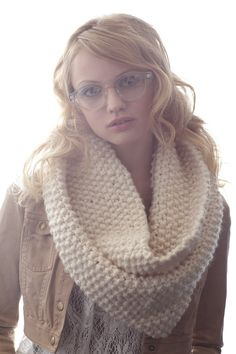 Bubble knit Cowl - in white- handmade in the USA - www.claire-verity.com