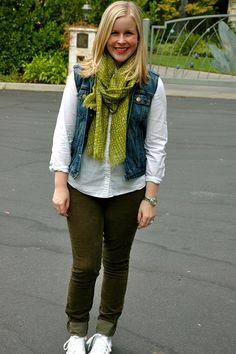 GivenChic Girl: cords + denim vest