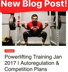 Check out my new blog post and YouTube video http://ift.tt/2jaHWWA (Link in profile) I talk about my #training #autoregulation and competition plans! #fitness #powerlifting