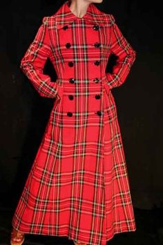 Full-on tartan trench