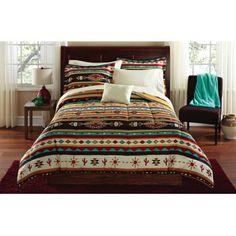 Mainstays Kokopeli Bed in a Bag Coordinated Bedding Set, Multicolor