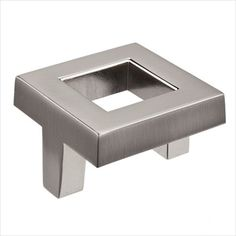 BP80338195 - Richelieu Hardware Bp80338195 Transitional Metal Cut-Out Center Square Knob 38MM Brushed Nickel Finish - GoingKnobs