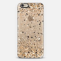 Gold Black White Confetti Explosion iPhone 6 Case by Organic Saturation | Casetify