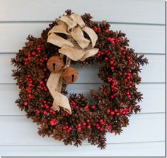 pine cone wreath for christmas