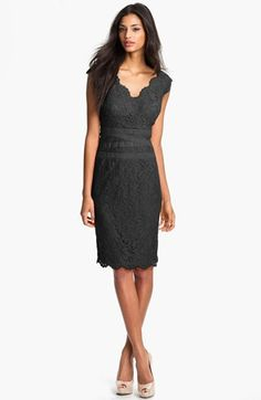 Tadashi Shoji Lace & Tulle Sheath Dress (Regular & Petite) available at #Nordstrom