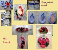 polymer clay & resin pendant tutorial by Anat Shmueli, via Flickr