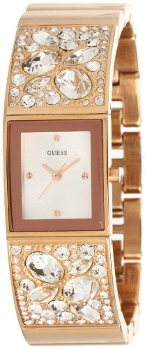Women's Wrist Watches - GUESS Womens U0002L4 Rose GoldTone Bejeweled Watch * Read more reviews of the product by visiting the link on the image. (This is an Amazon affiliate link)