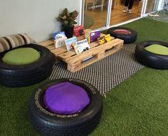 Outdoor/Indoor reading area