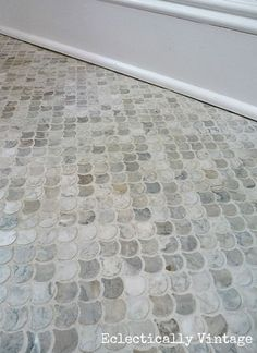 I like this tile for our main level half bath. I think I can do it myself too!