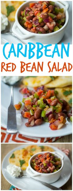 Peppers, onion, and a lime juice-spiked tomato sauce make this Caribbean Red Bean Salad anything but ordinary!