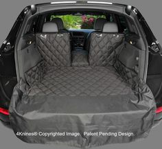 SUV 60/40 Split Cargo Cover / Liner for Dogs and Pets - Extra Large Black