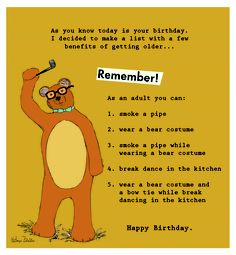 Bear Birthday Card. KZ