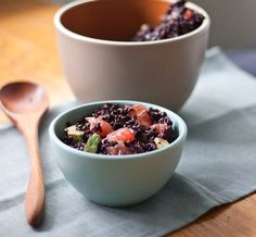 Vegetarian Lunch: Black Rice Salad with Avocado and Grapefruit