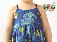 Monsters University Shirt Dress or Maxi Baby and by ToxicLove