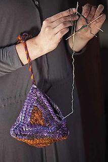 pyramid project bag - FREE PATTERN via Ravelry at last I have found it, I have been looking for this pattern to help when I am walking around with my knitting, would make a great gift for any knitter/crocheter