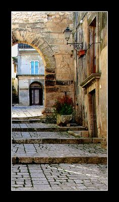 Chiaramonte Gulfi, province of Ragusa Sicily. Places Around The World, Around The Worlds, Ragusa Sicily, Places To Travel, Places To Visit, Sicily Travel, Italy Architecture, Italy Street, Places In Italy