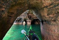 "We love it, too. ""Apostle Islands, Northern Wisconsin.  Love sea kayaking. Love it."" #KEENrecess #grabapaddle"