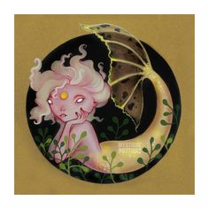 Had so much fun in October 2016 with all the Halloween images. Halloween Images, Button Art, Mermaid Art, Mystic, Diy And Crafts, Decorative Plates, Watercolor, Drawings, Artist