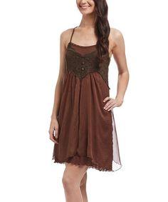 PRETTY ANGEL CUTE DRESS!!Love this Coffee Linen-Blend T-Back Dress on #zulily! #zulilyfinds
