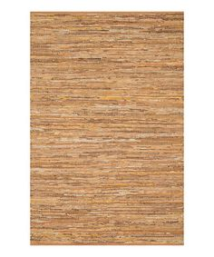 "This Tan Edge Leather Rug is perfect! #zulilyfinds ($180) 7'9"" by 9'9"""